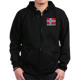 Norway flag Zip Hoodie (dark)