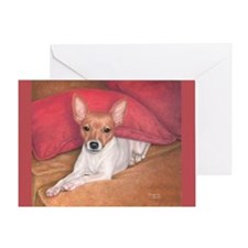 Toy Fox Terrier Greeting Card
