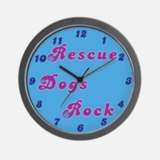 Rescue Dogs Rock Wall Clock