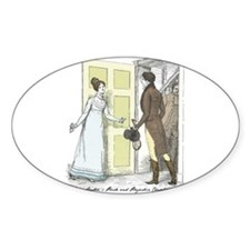 Pride & Prejudice Ch 46 Oval Decal