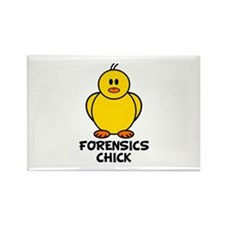 Forensics Chick Rectangle Magnet