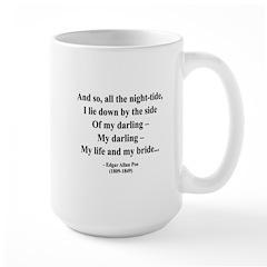 Edgar Allan Poe 21 Large Mug
