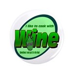 """I Love Wine 3.5"""" Button (100 pack)"""