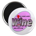 "I Love Wine 2.25"" Magnet (100 pack)"