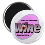 "I Love Wine 2.25"" Magnet (10 pack)"