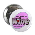 """I Love Wine 2.25"""" Button (10 pack)"""