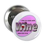 """I Love Wine 2.25"""" Button"""
