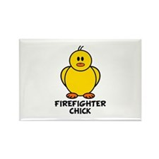 Firefighter Chick Rectangle Magnet