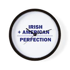 Irish American Heritage Wall Clock