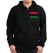 Cute Red black and green Zip Hoodie