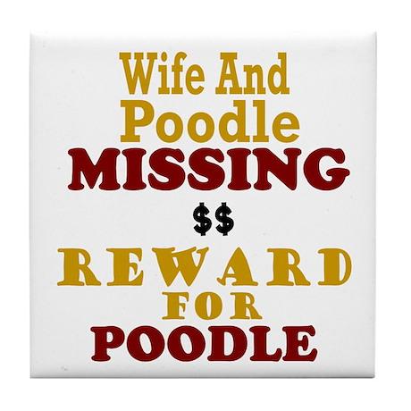 Wife & Poodle Missing Tile Coaster