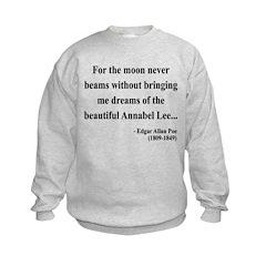 Edgar Allan Poe 22 Sweatshirt