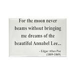 Edgar Allan Poe 22 Rectangle Magnet (100 pack)