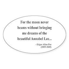 Edgar Allan Poe 22 Oval Decal