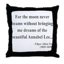 Edgar Allan Poe 22 Throw Pillow
