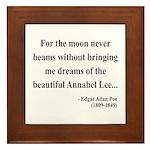 Edgar Allan Poe 22 Framed Tile