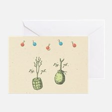 Two Trees Holiday Greeting Card