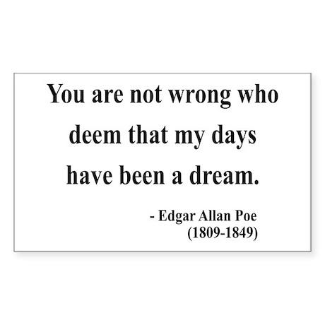 Edgar Allan Poe 23 Rectangle Sticker