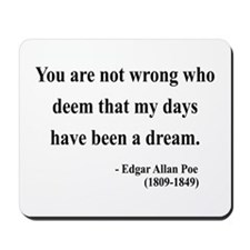 Edgar Allan Poe 23 Mousepad