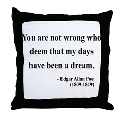 Edgar Allan Poe 23 Throw Pillow