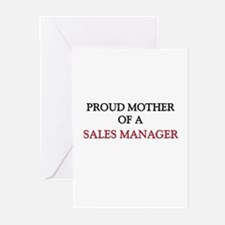 Proud Mother Of A SALES MANAGER Greeting Cards (Pk