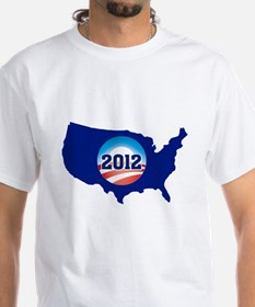 OBAMA in 2012-US TURNS BLUE! Shirt
