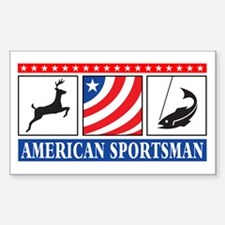 American Sportsman Rectangle Decal