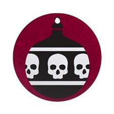 Cute Gothic christmas Ornament (Round)