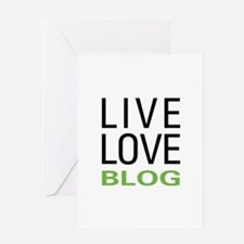 Live Love Blog Greeting Card