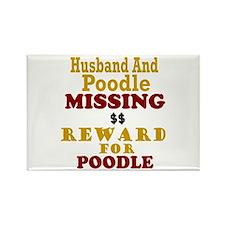 Husband & Poodle Missing Rectangle Magnet