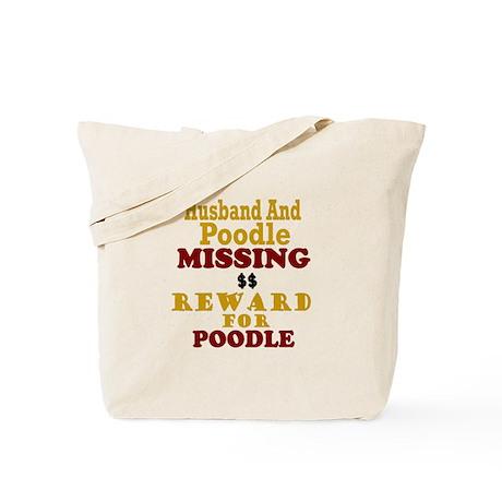 Husband & Poodle Missing Tote Bag