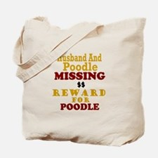 Husband & Poodle Missing Tote Bag