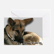 German Shepherd Sympathy Card Greeting Card