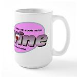 I Love Wine Large Mug