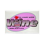 I Love Wine Rectangle Magnet (100 pack)
