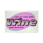 I Love Wine Rectangle Magnet (10 pack)