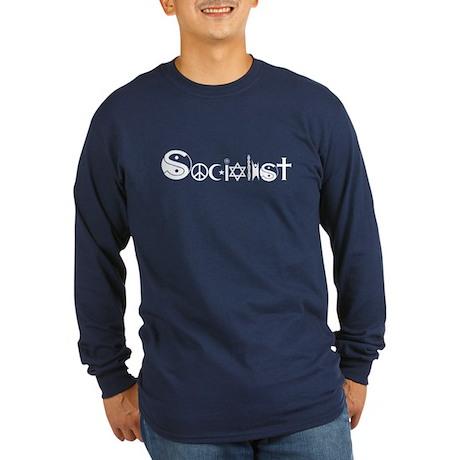 Socialist Long Sleeve Dark T-Shirt