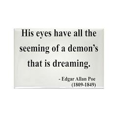 Edgar Allan Poe 24 Rectangle Magnet (100 pack)