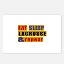 Eat Sleep Lacrosse And Re Postcards (Package of 8)