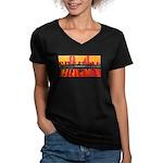 CARL G Women's V-Neck Dark T-Shirt