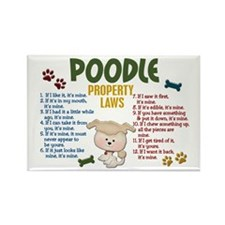 Poodle Property Laws 4 Rectangle Magnet