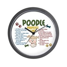 Poodle Property Laws 4 Wall Clock