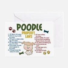 Poodle Property Laws 4 Greeting Card