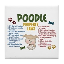 Poodle Property Laws 4 Tile Coaster