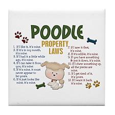 Poodle Property Laws 4 Tile Coaster