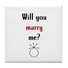 Will You Marry Me? Surprise Tile Coaster