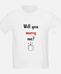 Will You Marry Me? Surprise Kids T-Shirt