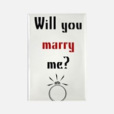 Will You Marry Me? Surprise Rectangle Magnet