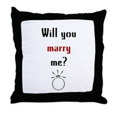 Will You Marry Me? Surprise Throw Pillow