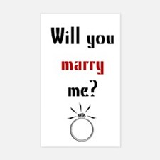 Will You Marry Me? Surprise Rectangle Decal